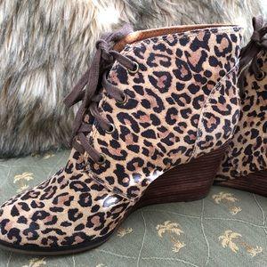 Lucky Brand leopard booties